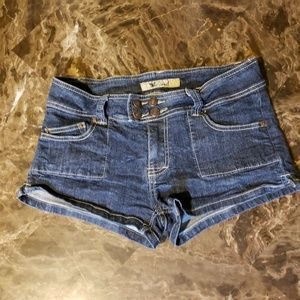 Wet Seal Jean 4 Button Closure Shorts Size 11